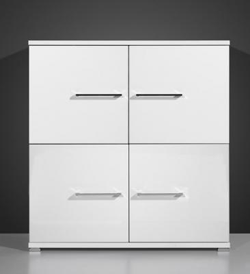 w rfel wohnwand kommode mit hochglanzfront wei neu ebay. Black Bedroom Furniture Sets. Home Design Ideas