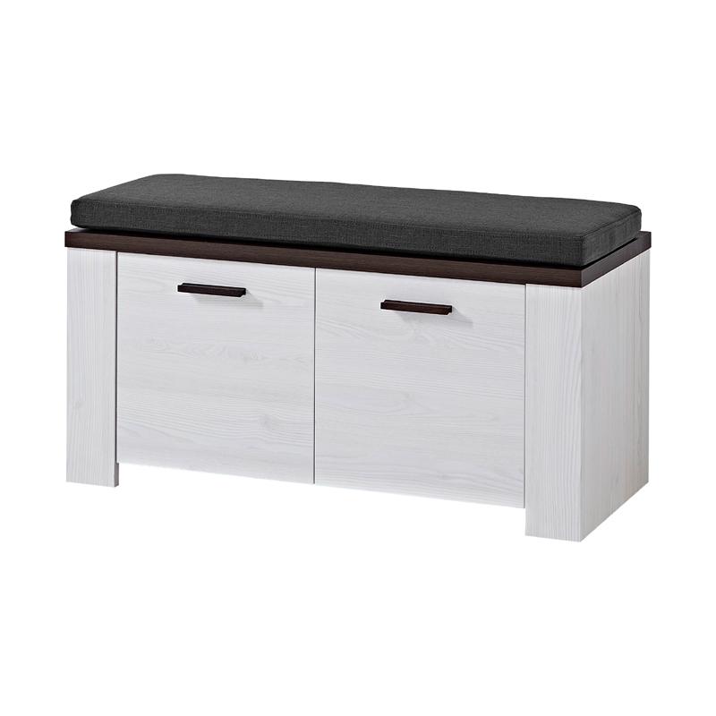 garderoben set l rche wei schuhschrank spiegel garderobenpaneel schuhbank flur ebay. Black Bedroom Furniture Sets. Home Design Ideas