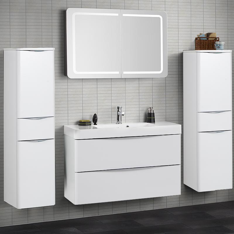 design badezimmer hochschrank hochglanz wei badezimmerschrank bad h ngeschrank ebay. Black Bedroom Furniture Sets. Home Design Ideas