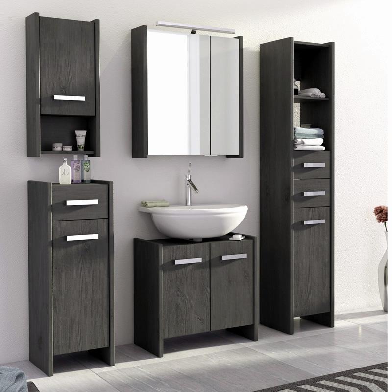 landhaus badezimmer set massiv grau badezimmerm bel led spiegelschrank badm bel ebay. Black Bedroom Furniture Sets. Home Design Ideas