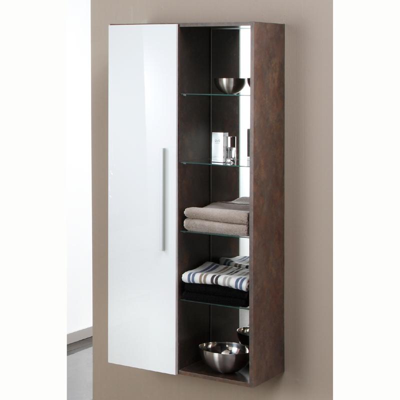 badezimmer midischrank hochglanz wei metallic badm bel schrank h ngeschrank ebay. Black Bedroom Furniture Sets. Home Design Ideas