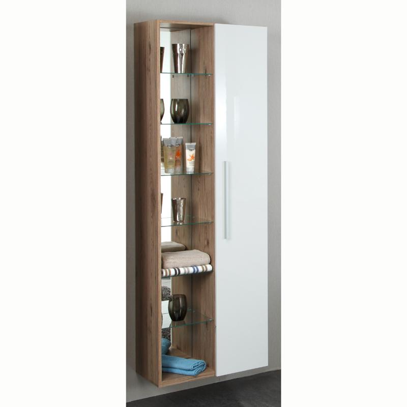 hochschrank regal bordeaux eiche hochglanz wei badschrank badm bel badezimmer ebay. Black Bedroom Furniture Sets. Home Design Ideas