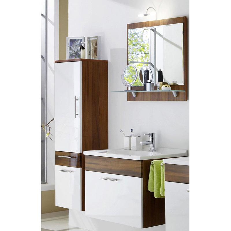 komplett badezimmer set hochglanz wei walnuss badm bel. Black Bedroom Furniture Sets. Home Design Ideas