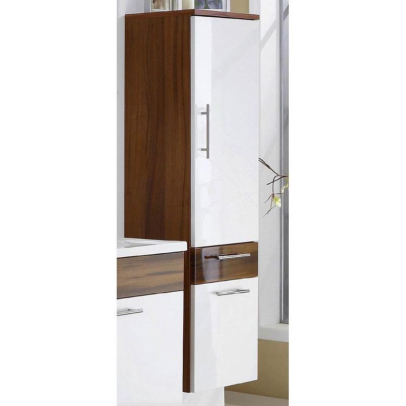badm bel hochschrank hochglanz wei walnuss badezimmerm bel badschrank highboard ebay. Black Bedroom Furniture Sets. Home Design Ideas