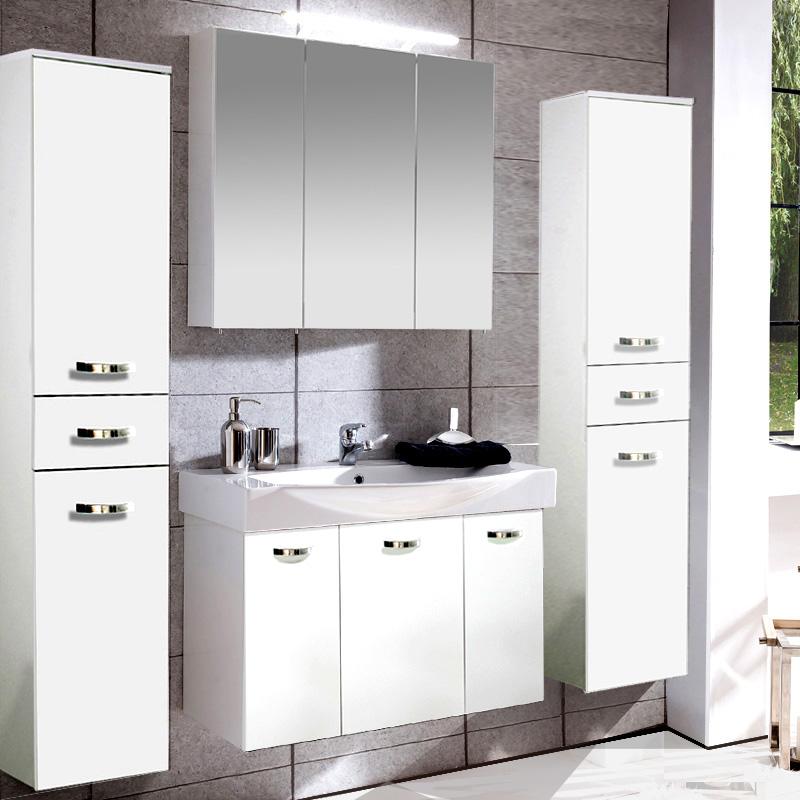 badezimmer hochschrank glanz wei badezimmerschrank badm bel schrank h nger bad enger. Black Bedroom Furniture Sets. Home Design Ideas