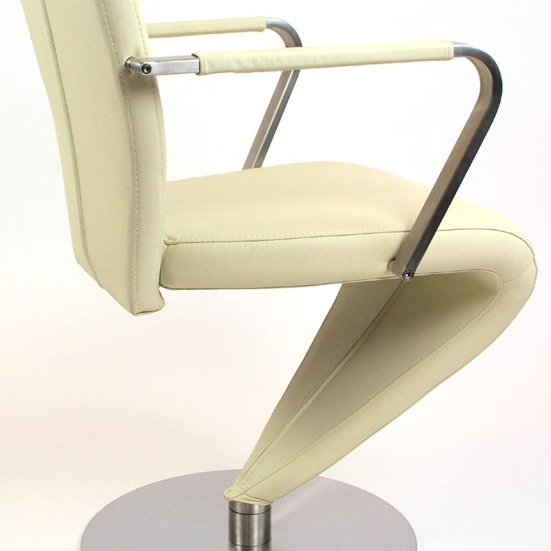 2er set freischwinger kunstleder creme drehbar. Black Bedroom Furniture Sets. Home Design Ideas