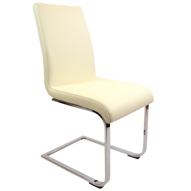 2er set schwingstuhl echtleder creme wei polsterstuuhl. Black Bedroom Furniture Sets. Home Design Ideas