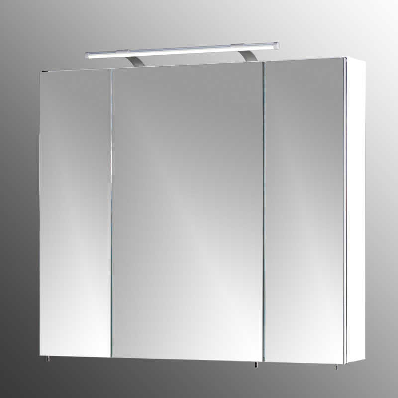 badezimmer spiegelschrank 80cm wei led badm bel bad spiegel badezimmerspiegel ebay. Black Bedroom Furniture Sets. Home Design Ideas