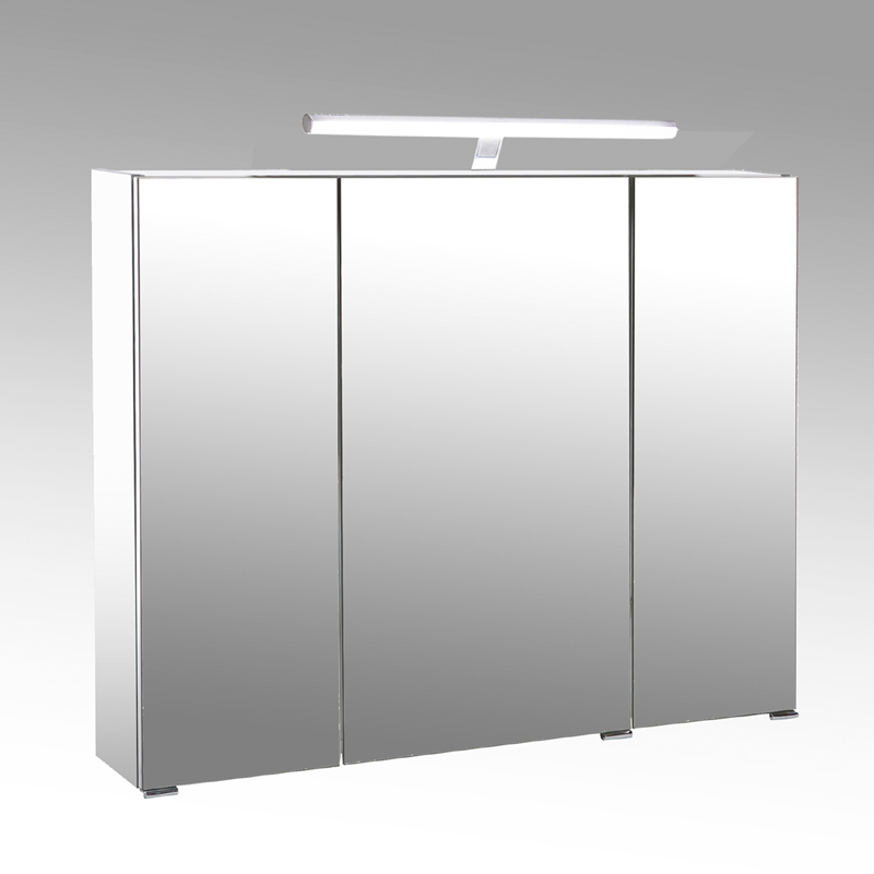 badezimmer spiegelschrank 90cm wei led badm bel bad spiegel badezimmerspiegel ebay. Black Bedroom Furniture Sets. Home Design Ideas