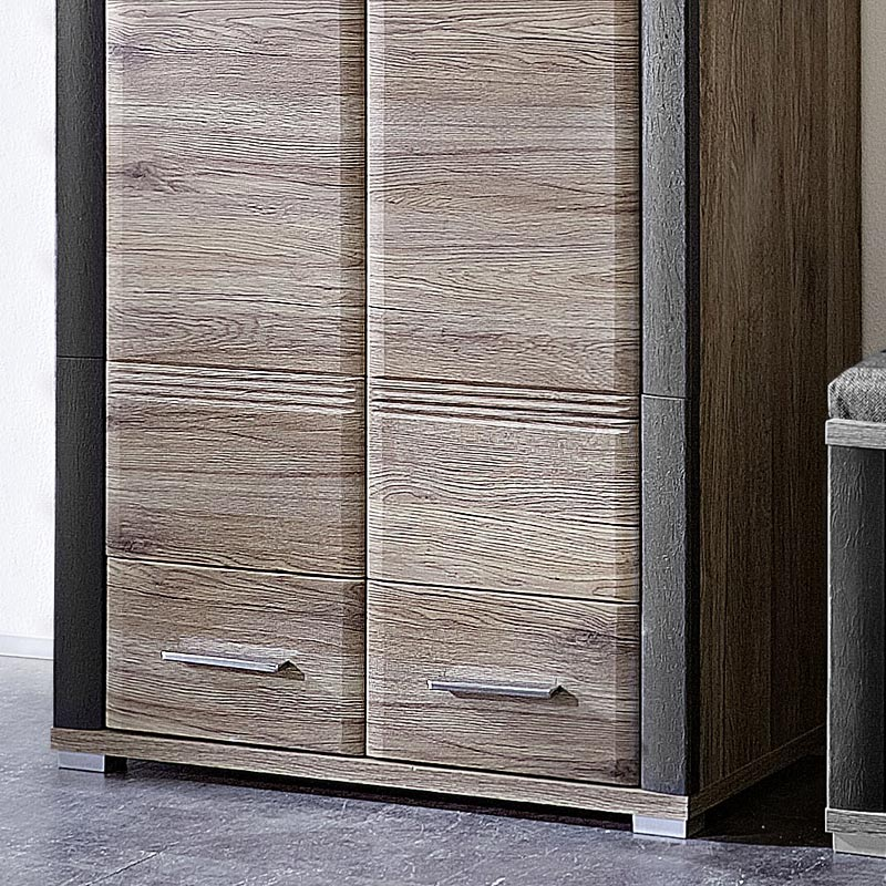 garderoben kleiderschrank eiche sanremo schiefer nb dielenschrank flurschrank ebay. Black Bedroom Furniture Sets. Home Design Ideas