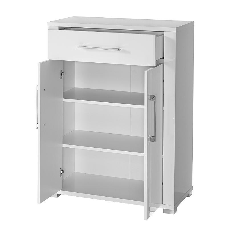 schuhschrank hochglanz wei dielenschrank schuhkommode garderobe flurschrank ebay. Black Bedroom Furniture Sets. Home Design Ideas