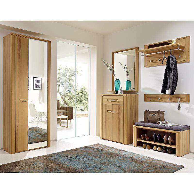 garderoben set kernbuche massiv garderobenbank. Black Bedroom Furniture Sets. Home Design Ideas