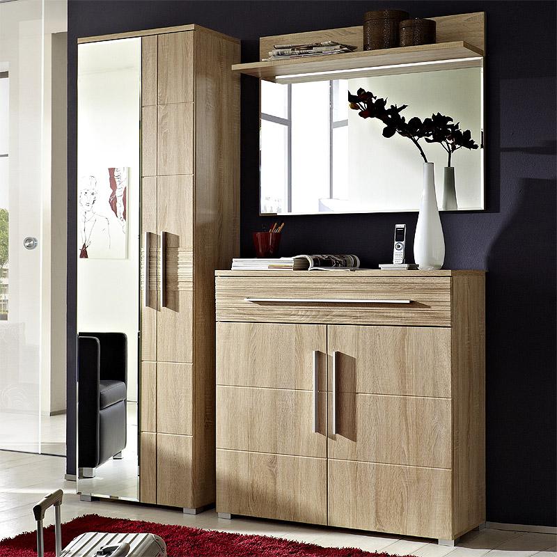 garderoben set sonoma eiche hell nb schuhschrank. Black Bedroom Furniture Sets. Home Design Ideas