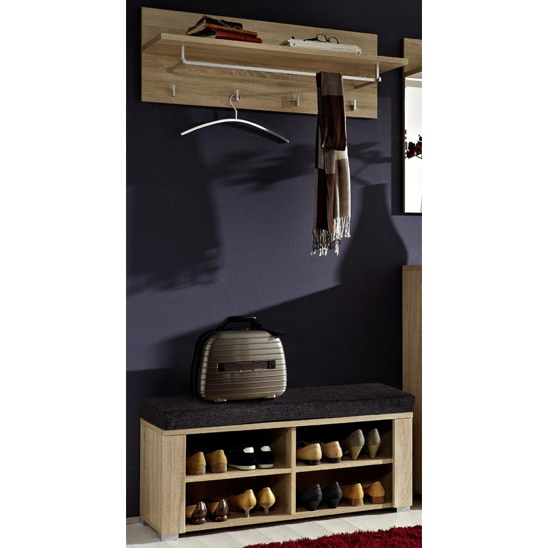 garderoben set sanremo eiche hell flurgarderobe paneel. Black Bedroom Furniture Sets. Home Design Ideas