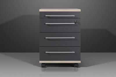 neu b ro rollcontainer b rom bel container abschlie bar in anthrazit rosales ebay. Black Bedroom Furniture Sets. Home Design Ideas