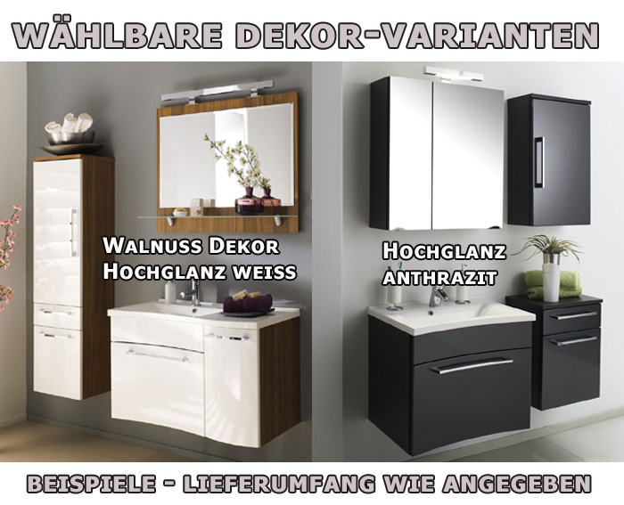 badezimmer bad unterschrank h ngend hochglanz anthrazit ebay. Black Bedroom Furniture Sets. Home Design Ideas