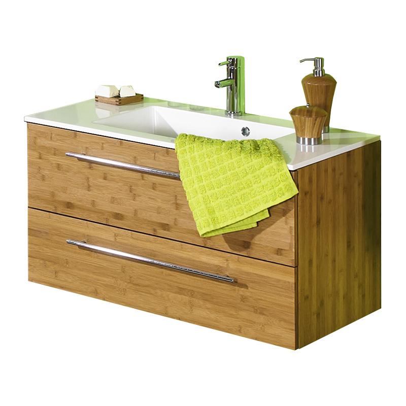 badm belset bambus massiv led spiegelschrank badezimmerm bel badm bel waschplatz ebay. Black Bedroom Furniture Sets. Home Design Ideas