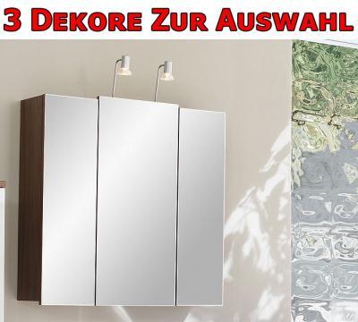 bad spiegelschrank mit beleuchtung spiegel walnuss nb ebay. Black Bedroom Furniture Sets. Home Design Ideas
