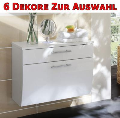 bad schrank unterschrank h ngeschrank hochglanz wei ebay. Black Bedroom Furniture Sets. Home Design Ideas
