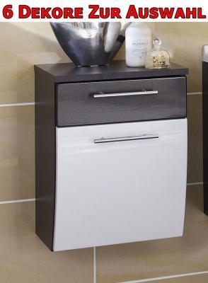 bad unterschrank h ngeschrank hochglanz wei anthrazit ebay. Black Bedroom Furniture Sets. Home Design Ideas