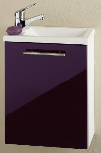 neu waschplatz in hochglanz wei brombeer g ste wc. Black Bedroom Furniture Sets. Home Design Ideas