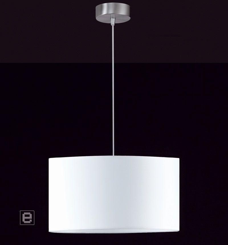 neu pendelleuchte h ngeleuchte h ngelampe deckenleuchte stoffschirm weiss ebay. Black Bedroom Furniture Sets. Home Design Ideas