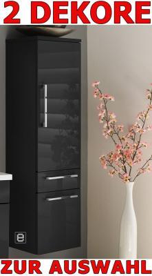 Badezimmer Bad Hochschrank hängend Hochglanz anthrazit | eBay