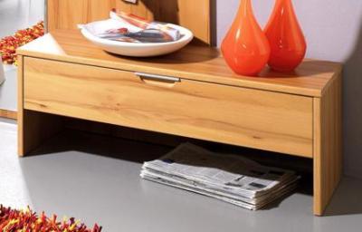 neu garderobenbank bank garderobe unterschrank mdf front in kernbuche dekor ebay. Black Bedroom Furniture Sets. Home Design Ideas