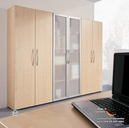 b rom bel schrankwand 6tlg aktenschrank ahorn nb b ro schrank abschlie bar ebay. Black Bedroom Furniture Sets. Home Design Ideas