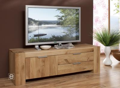 lowboard tv tisch fernsehtisch wildeiche massiv 807 ebay. Black Bedroom Furniture Sets. Home Design Ideas