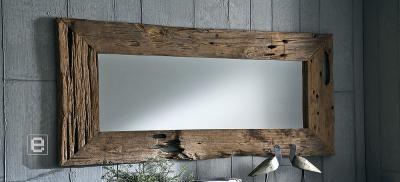 unikat wandspiegel spiegel aus teak altholz 180x80 ebay. Black Bedroom Furniture Sets. Home Design Ideas