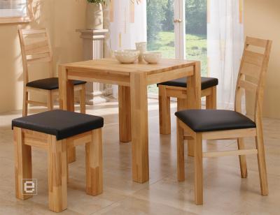 esszimmerset ledersitz esstisch hocker kernbuche massiv ebay. Black Bedroom Furniture Sets. Home Design Ideas
