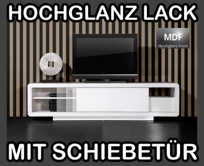 neu tv bank lowboard lack hochglanz wei toppreis eur 289 00 picclick de. Black Bedroom Furniture Sets. Home Design Ideas