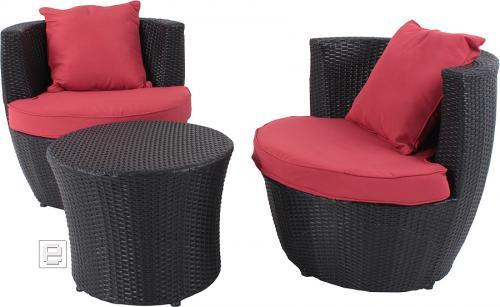 Design Rattan Sitzgruppe TischgruppeHocker + Tisch ...