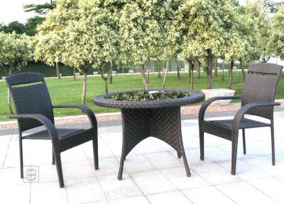 modernes rattan 3tlg balkon set gartenm bel stapelbar ebay. Black Bedroom Furniture Sets. Home Design Ideas