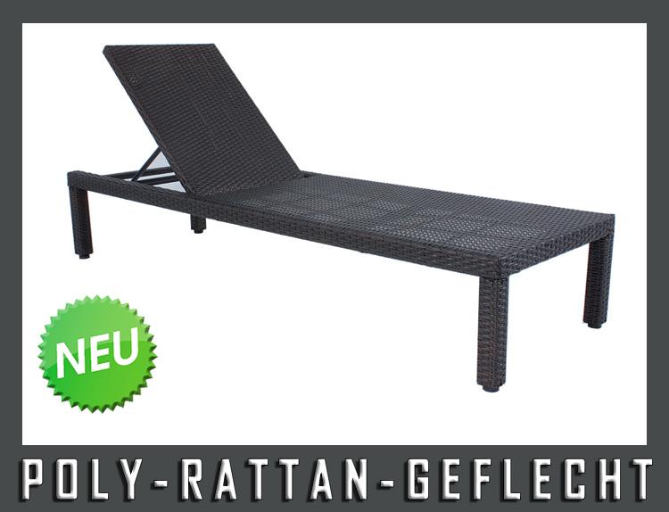 neu exclusive sonnenliege gartenliege liege liegestuhl rattan optik gartenm bel ebay. Black Bedroom Furniture Sets. Home Design Ideas