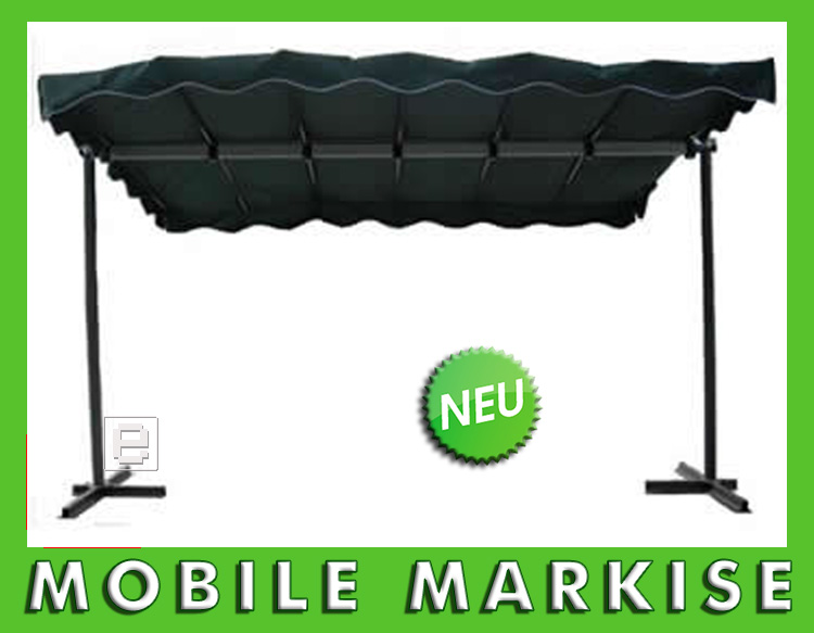 neu mobile markise klappbar sonnenschutz faltmarkise himmel in gr n aluminium ebay. Black Bedroom Furniture Sets. Home Design Ideas