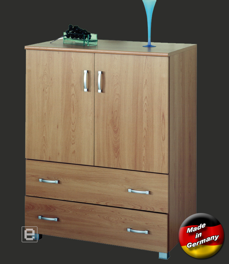 sideboard kommode anrichte in buche noce dekor neu ebay. Black Bedroom Furniture Sets. Home Design Ideas