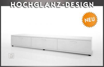 NEU* Design Lowboard in Hochglanz weiß Sideboard LCD Plasma Wohnwand ...