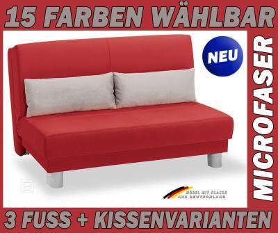 Neu schlafcouch bettsofa funktionssofa 140cm farbwahl ebay for Bettsofa 140 cm breit