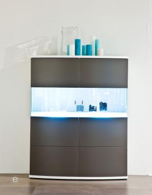 neu led highboard sideboard vitrine mdf front anthrazit ebay. Black Bedroom Furniture Sets. Home Design Ideas