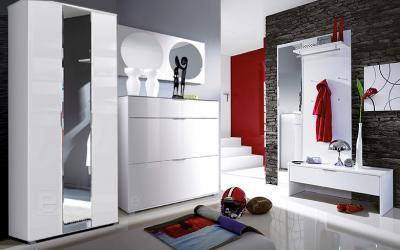 Top Moderne Hochglanz Weiß Flur Garderobe 7tlg Garderobenset