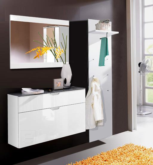 garderoben set hochglanz wei flurgarderobe flurm bel flurschrank dielenschrank ebay. Black Bedroom Furniture Sets. Home Design Ideas