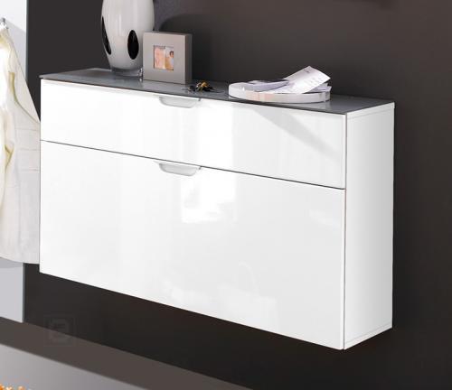 schuhschrank hochglanz weiss schuhkipper schuhkommode. Black Bedroom Furniture Sets. Home Design Ideas