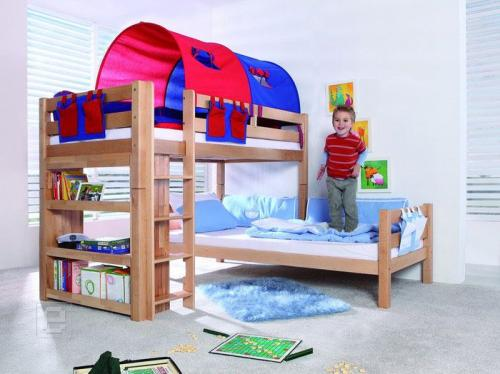 kinderzimmer hochbett etagenbett buche komplett neu 01 ebay. Black Bedroom Furniture Sets. Home Design Ideas