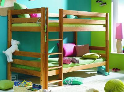 etagenbett hochbett doppelbett massive kernbuche neu ebay. Black Bedroom Furniture Sets. Home Design Ideas