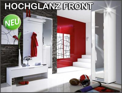 neu 4tlg garderobe hochglanz weiss spiegel kleiderschrank flurm bel dielenm bel ebay. Black Bedroom Furniture Sets. Home Design Ideas