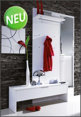 Neu 3tlg hochglanz garderobe schuhschrank kleiderschrank flurm bel dielenm bel ebay - Garderobe dielenmobel ...