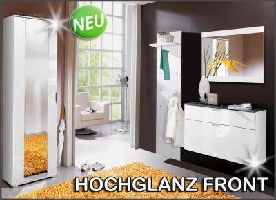 Neu 4tlg hochglanz garderobe schuhschrank kleiderschrank flurm bel dielenm bel ebay - Garderobe dielenmobel ...