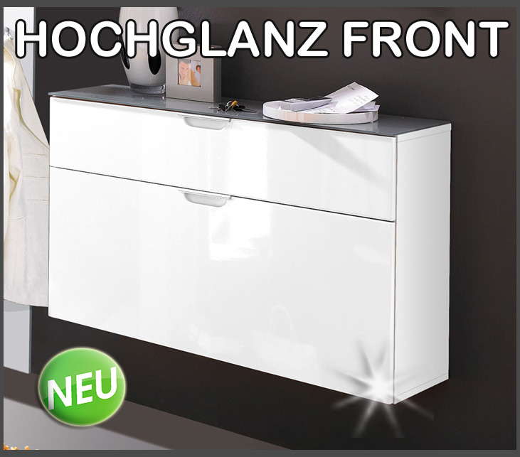 top hochglanz schuhschrank garderoben schuhkommode schuhkipper wei 8 paar neu ebay. Black Bedroom Furniture Sets. Home Design Ideas